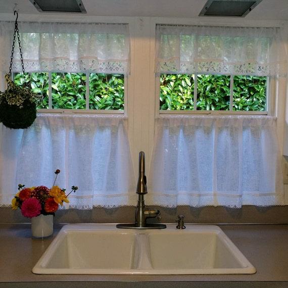 Bauernhaus Vorhänge Küche Schürzen rustikale Vorhänge Leinen Cafe Vorhänge  Land Vorhänge