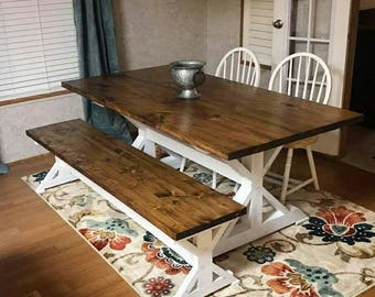 Trestle X Farmhouse Dining Table Local Pickup And Delivery Only