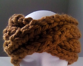Great Offer!!! Mega Bulky Yarn Made Twisted Turban and Earwarmer