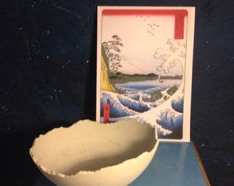 Large Light Grey Concrete Dragon Egg Bowl