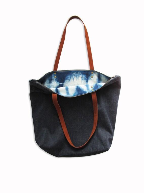 lined tote bag gift for her Green shoulder bag with customisable pockets toile bag canvas shoulder purse shoulder handbag for women