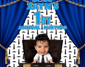 Personalized the boss favors cups piñatas favor bags backdrop boss baby centerpieces