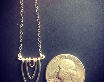 Tiny Sterling Silver Vagina Necklace