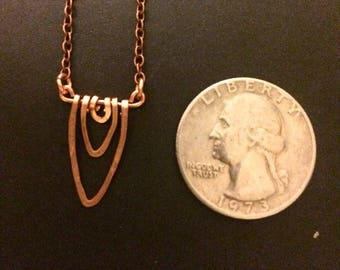 Tiny Copper Vagina Necklace