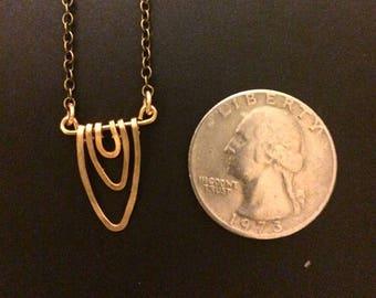 Tiny Brass Vagina Necklace