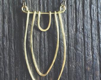 Brass Vagina Necklace