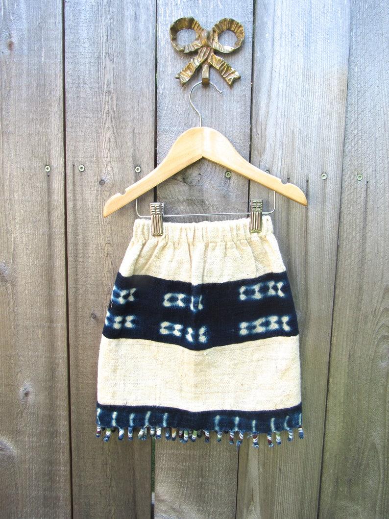 b1c0bd9755bf Vintage Skirt Girl Blue Shibori Boho Skirt Bohemian Skirt   Etsy