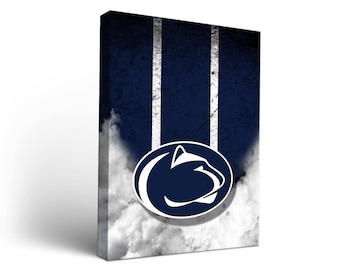 Penn State PSU Nittany Lions Canvas Wall Art Vintage Design