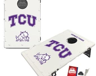 Texas Christian University Horned Frogs TCU Baggo Cornhole Game Designs