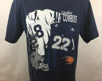 Vintage Dallas Cowboys T Shirt Tee 1990s Beautiful NFL Large 1993 Texas  Graphic T-Shirt Super Bowl Champions 90s Helmet Navy Jersey dd83d8923