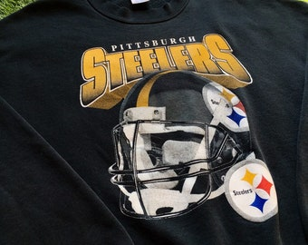 52c8052a Vintage Pittsburgh Steelers NFL Football Crewneck Sweater Comfy Sweatshirt  1990s 90s Champs Heavy Warm Super Bowl Cozy Pull Over XXL 2 XL