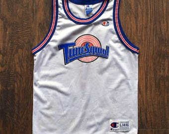 ad1da11fd Vintage Tune Squad Space Jam Jersey Original 1996 Champion Jersey Youth  Large mens womens xs s Taz ! Looney Tunes Devil Jordan Authentic