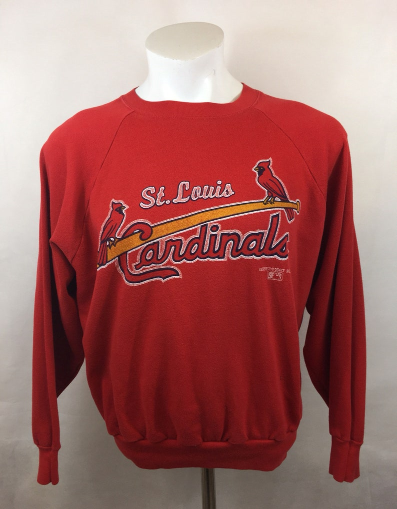 fb63ccdb Vintage St Louis Cardinals Crewneck Sweater Comfy 1987 Pull Over MLB  Baseball Missouri XL fits Large 80s 87 Cards Red VTG beautiful