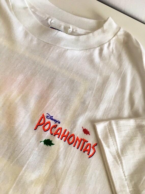 Vintage POCAHONTAS Tee Shirt Brand NEW 1995 DISNEY Promo XL DEADSTOCK Movie Rare