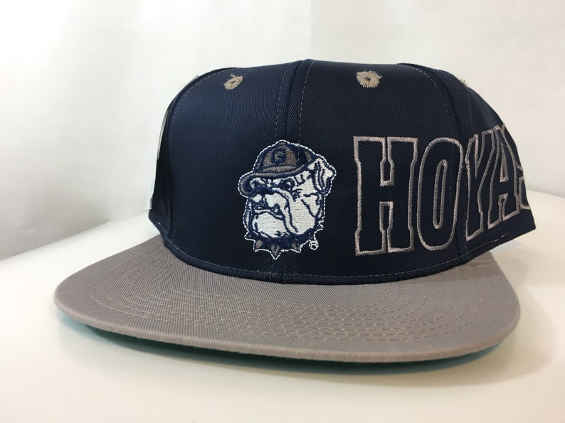 5a9855fd78a Vintage Georgetown Hoyas Hat Deadstock Snapback Embroidered