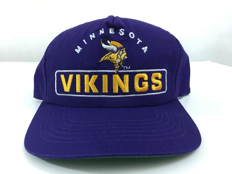 08a51c1e6aa Vintage Minnesota Vikings Hat Logo Deadstock Snapback New
