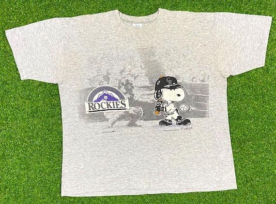 Vintage Colorado Rockies Snoopy Peanuts T Shirt Te
