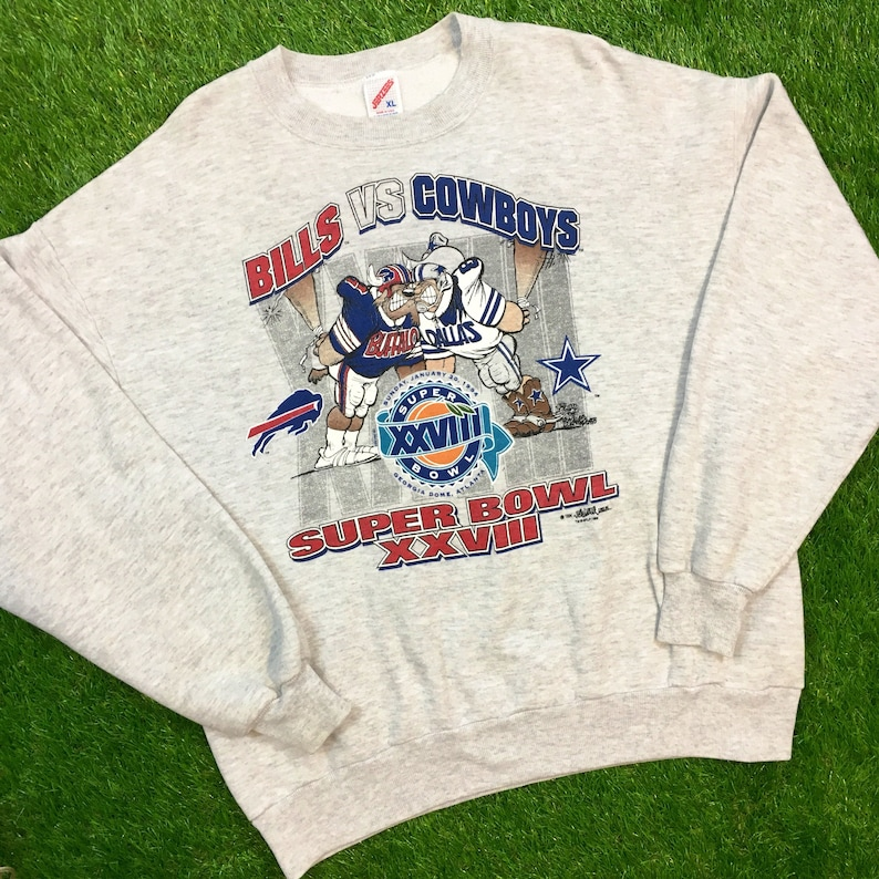 2076cc41 Vintage Dallas Cowboys Crewneck Sweatshirt Sweater Comfy Cozy 1994 94 1990s  Large Texas Warm NFL Football USA Cartoon Super Bowl Atlanta