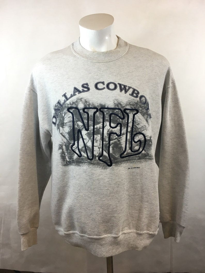 d69c0690 Vintage Dallas Cowboys Crewneck Sweatshirt Sweater Comfy Cozy Oversized  1993 93 1990s Large Texas Warm NFL Football L USA XL Helmet Star