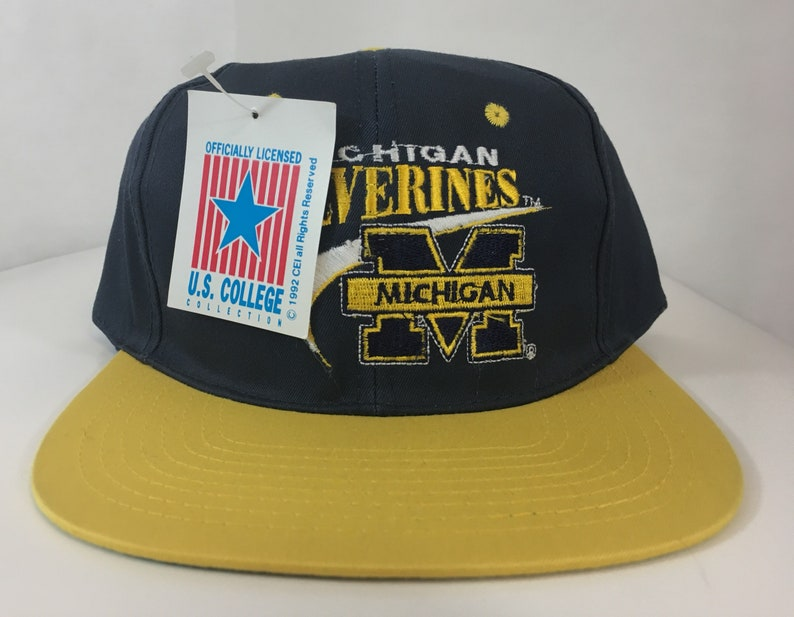 the latest 5bbe6 bcab8 Vintage University of Michigan Wolverines NCAA Deadstock New   Etsy
