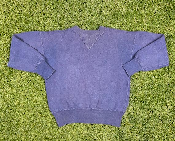 Vintage Blue Crewneck 1940s 40s Original Sweater S
