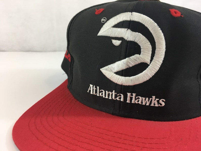 new concept d7aaa a725d Vintage Atlanta Hawks Snapback Brand NEW With Tags Never Worn   Etsy
