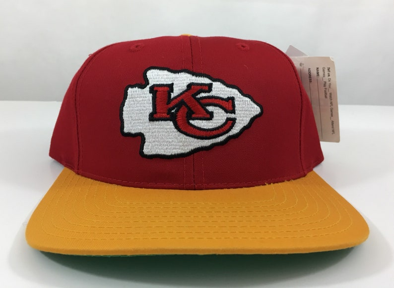 115b2fbff36 Vintage Kansas City Chiefs Hat Deadstock Snapback Embroidered