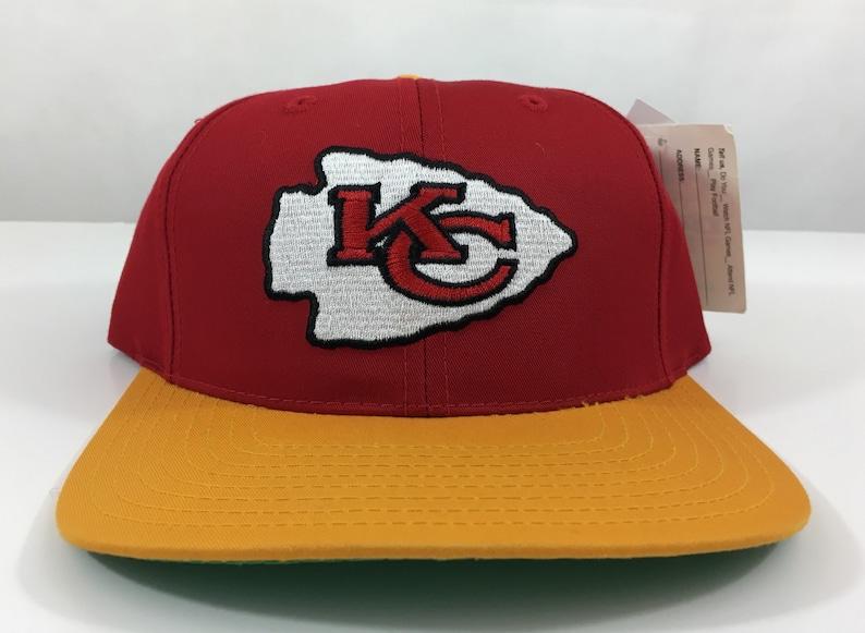 7ec61d7c7ffe2 Vintage Kansas City Chiefs Hat Deadstock Snapback Embroidered