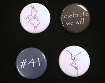 "1.25"" DMB Assorted Pins Badges - Celebrate We Will Pinback Button - #41 Pin Badge - DMB Dancer Pin"