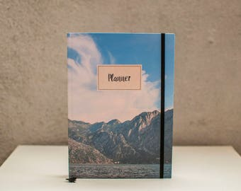 Planner 2018, Undated planner, LOVĆEN, Weekly Planner 2017, Agenda, Monthly Calendar, Scheduler, Notebook, Daily planner, Christmas gift