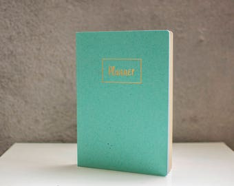 2018 Planner Undated Planner 2018 MINT BLUE Weekly Planner Monthly Planner Calendar Scheduler Daily planner Agenda Stationary Personal Diary