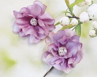 purple hair clip, purple hair pins, bridal hair pins, bridal hair piece, lavender hair accessories, light purple hair accessories, lilac pin