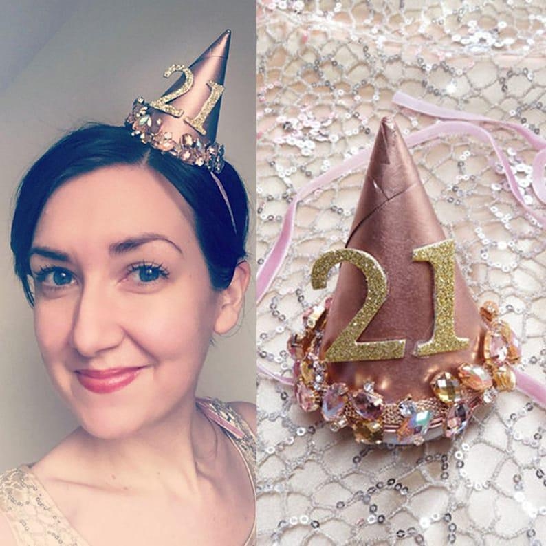 Birthday hat adult custom adult birthday hats jeweled 21st  bbb91dac90e