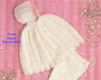 Cape and Pullups Knitting Pattern