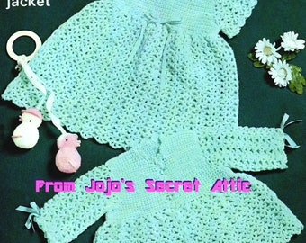 Baby girls DRESS BONNET BOOTIES KNITTING PATTERN  4ply 0-12 mths 17-20in 5079