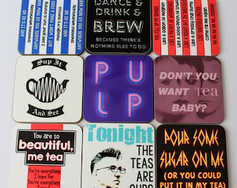 4 Sheffield Music themed coasters Pick n Mix from 9 designs