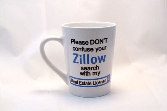 real estate zillow coffee mug realtor gift real estate etsy