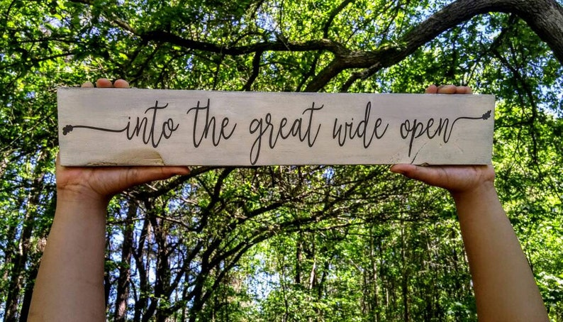 Into The Great Wide Open Pallet Sign Tom Petty And The Heart Breakers Graduation Gift Inspirational Decor Wooden Sign Tom Petty Lyrics