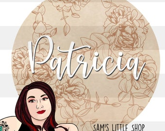 Patricia Peony ENGRAVING SVG File for Laser Cut Signs - Personal/Commercial Use License Included