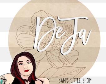 DeJa Floral Engraving File- Peony Flower Doodle Files - Samantha's Doodles Flower SVG Engraving File