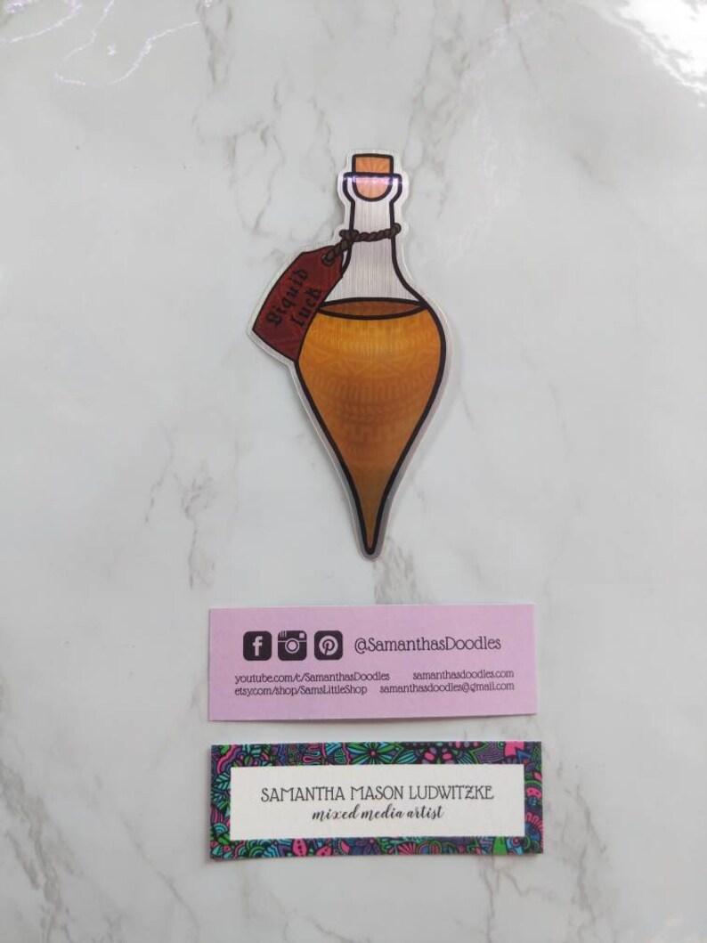 Metallische Flüssigkeit Glück Trank Aufkleber Aufkleber Für Autos Laptops Und Wasserflaschen Hydroflask Aufkleber