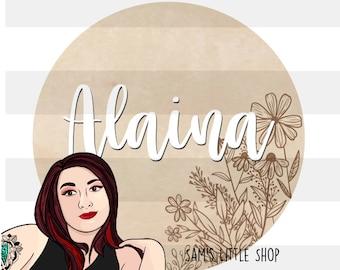 Alaina Wildflower Bunch Engraving File- Flower Doodle Files - Samantha's Doodles Flower SVG Engraving File