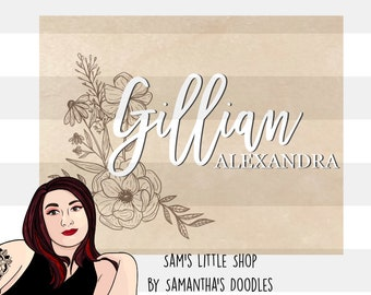 Gillian Wildflower Bunch Engraving File- Flower Doodle Files - Samantha's Doodles Flower SVG Engraving File