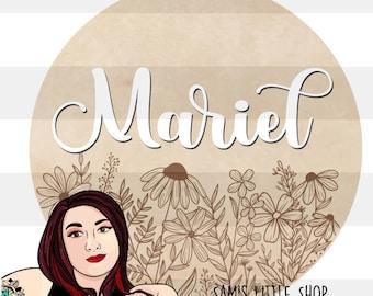 Mariel Wildflower Bunch Engraving File- Flower Doodle Files - Samantha's Doodles Flower SVG Engraving File