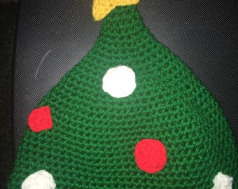 Crocheted Christmas Tree Hat