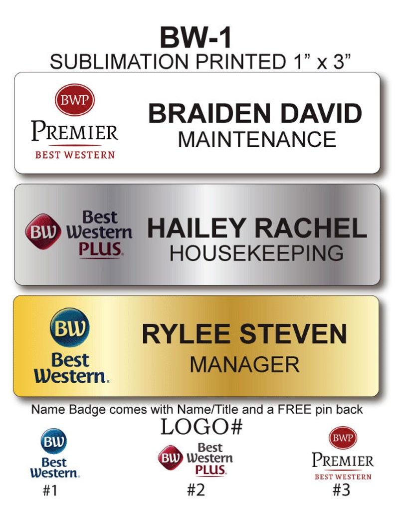 Best Western Employee Name Badge