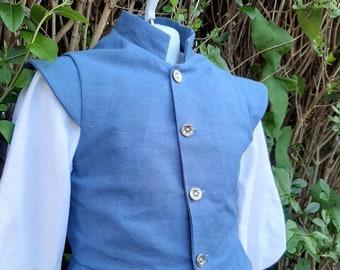 Stock Linen Fencing SET Sleeveless Doublet /& gusseted Shirt