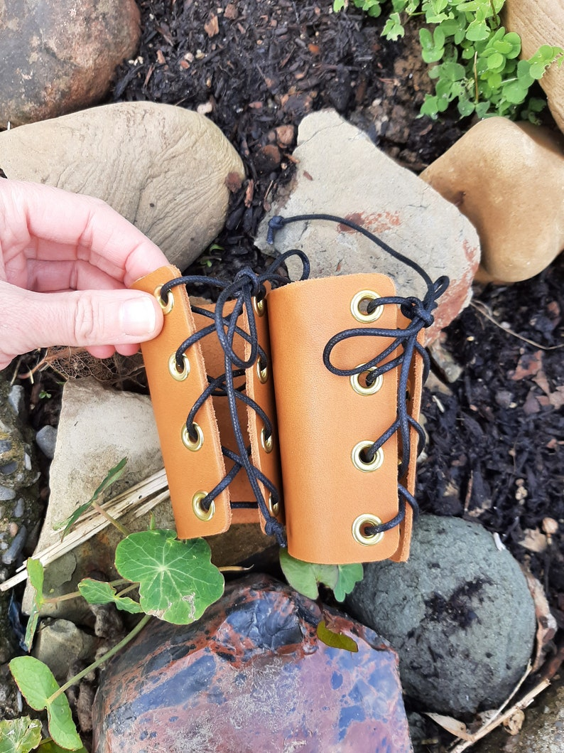 Medieval Leather Bracers Tan Toddler size 2T-4T