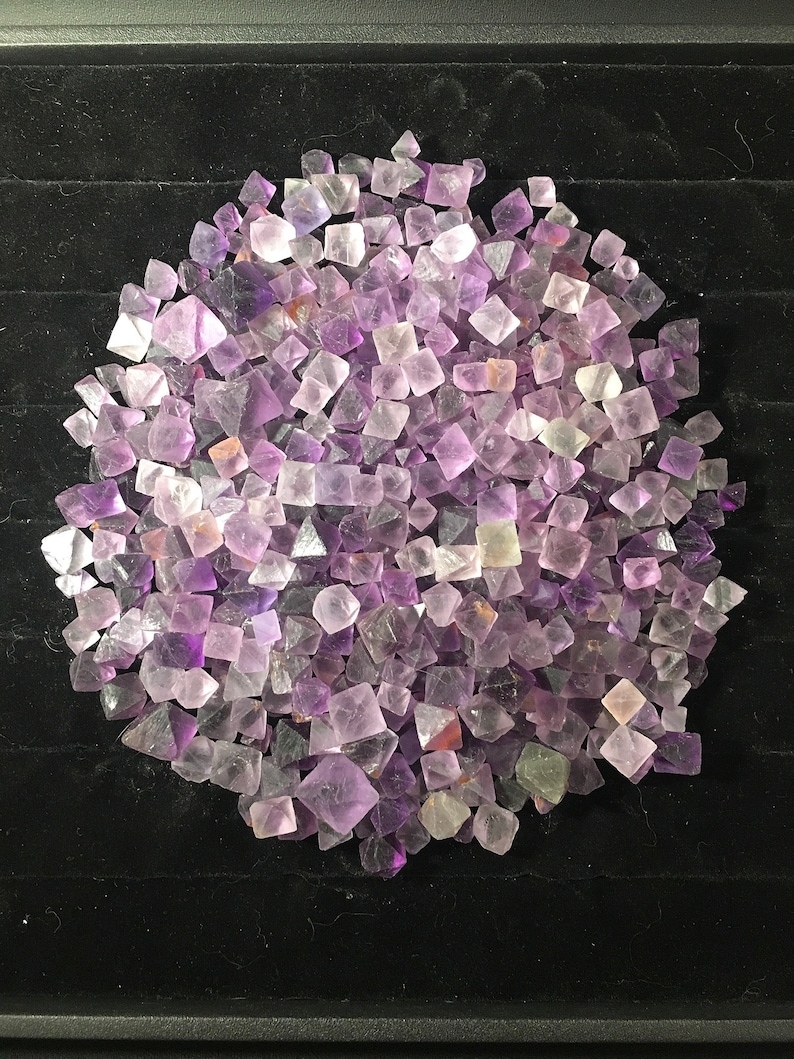 Fluorite Octahedron/ Purple Fluorite/ Wholesale Crystals/ Bulk Crystals/  Wiccan Altar/ Paganism/ Witchy/ Boho Home Decor/ Festival Fashion
