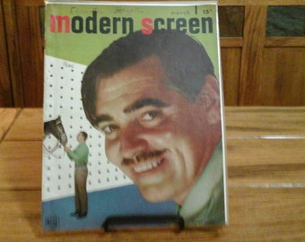 MODERN SCREEN magazine vintage Hollywood March 1947 Clark Gable Motion Picture retro Movies Television